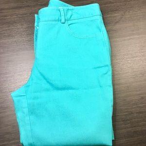 WORTH Aqua Blue Cotton Flare Pants
